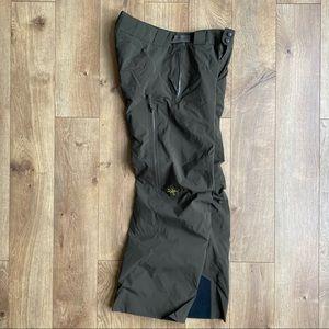 Arcteryx Mirrex Pants Medium Olive Green Ski Snowboard GoreTex Recco Coreloft